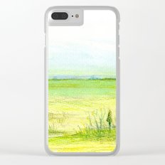 Green meadow Clear iPhone Case
