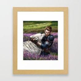 Man the White Wolf Framed Art Print
