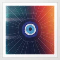 evil eye Art Prints featuring Evil Eye by DuckyB
