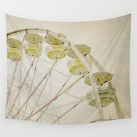 ferris wheel Wall Tapestries featuring Ferris Wheel by Melissa Lund