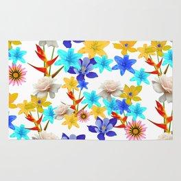 Multi Color floral texture Rug