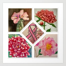 Breast Cancer Awareness Art Print
