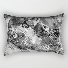 AnimalArtBW_Gorilla_20170601_by_JAMColorSpecial Rectangular Pillow