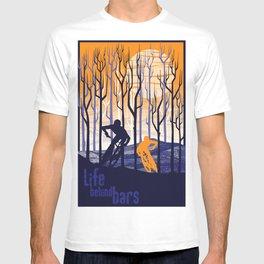 retro mountain bike poster, Life behind bars T-shirt