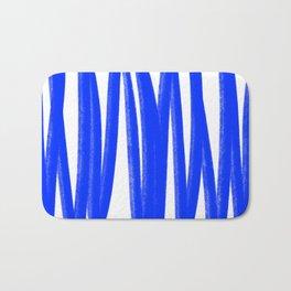 Yummy blue lines Bath Mat