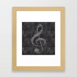 Sol key on chalkboard Framed Art Print