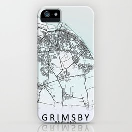 Grimsby, England, City Map iPhone Case