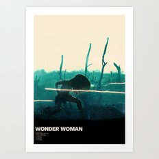 No Man Can Cross Art Print