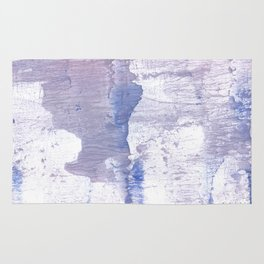 Purple Blue abstract wash drawing painting Rug