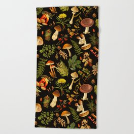 Vintage & Shabby Chic - Autumn Harvest Black Beach Towel