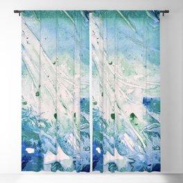 Ocean White Blackout Curtain