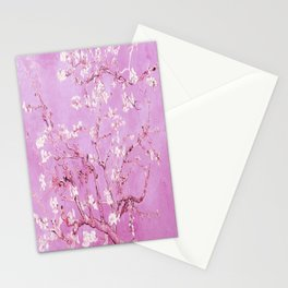 Vincent Van Gogh Almond BlossomS. Pink Lavender Stationery Cards