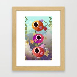 Group 'o Guppies Framed Art Print