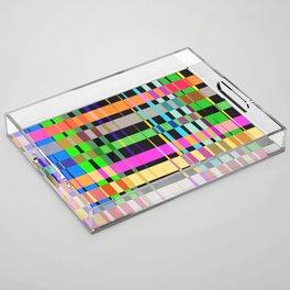 inclined coloured stripes Acrylic Tray