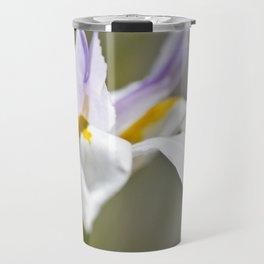 White Iris, close up - Botanical Photography Travel Mug