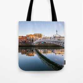 River Liffey Reflections Tote Bag