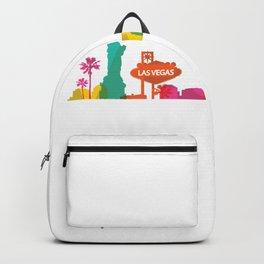 Las Vegas Skyline America USA Backpack