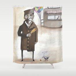 Alferd Packer's Uneaten Corn Dog Shower Curtain
