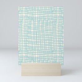 Blue Scribbles Pattern 06 Mini Art Print