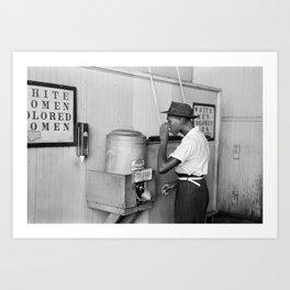 Segregated Drinking Fountain 1939 - Civil Rights Photo Art Print