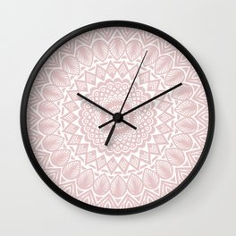 Light Rose Gold Mandala Minimal Minimalistic Wall Clock