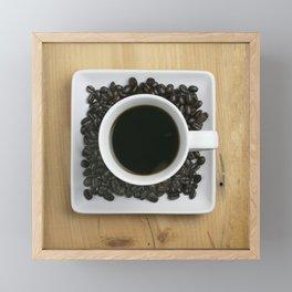 Coffee On The Table Framed Mini Art Print