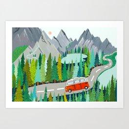 New Zealand Camper Art Print