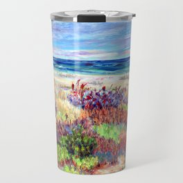 Winter Dunes, Barnegat Light, Long Beach Island, New Jersey Travel Mug