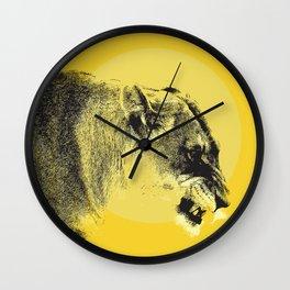 Lioness Lion Wall Clock