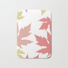 Maple autumn leaves falling down Bath Mat