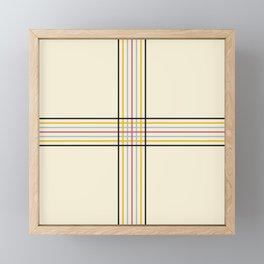 Polychrome Filigree Lines Framed Mini Art Print