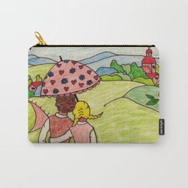 Loving couple in spring Carry-All Pouch