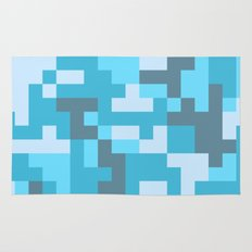 Turquoise Camo pattern Rug