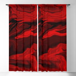 Blood Red Marble Blackout Curtain