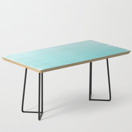 Modern teal watercolor gradient ombre brushstrokes pattern Coffee Table