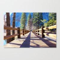 bridge Canvas Prints featuring Bridge by Liveart4evr
