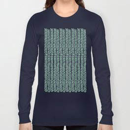 Knit Wave Mint Long Sleeve T-shirt