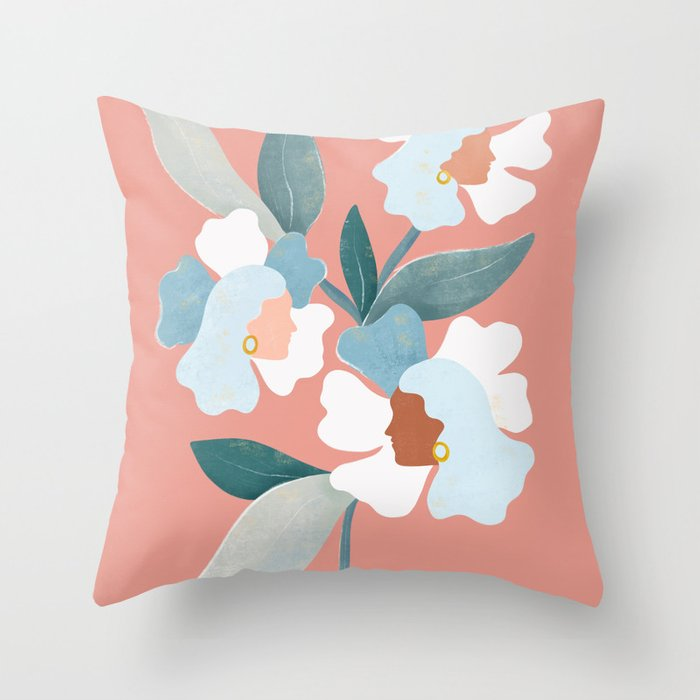 Blooms Throw Pillow