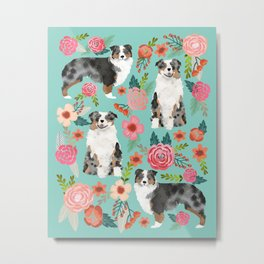 Australian Shepherd owners dog breed cute herding dogs aussie dogs animal pet portrait dog art Metal Print