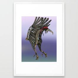 Steampunk Stork Framed Art Print