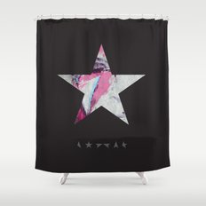 David Bowie Print. Blackstar Ziggy Stardust Print Shower Curtain