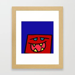 chalkboard wallies square heads Framed Art Print