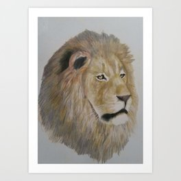 The face of pride. Art Print