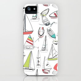 Sailing Boat Pattern iPhone Case