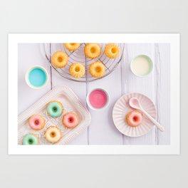 Mini bundt cakes Art Print