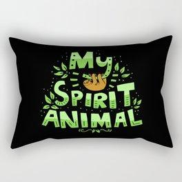 My Spirit Animal | Sloth Lazy Rectangular Pillow
