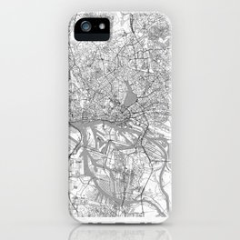 Hamburg Map Line iPhone Case