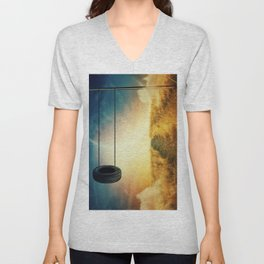 Breaking the physical laws Unisex V-Neck