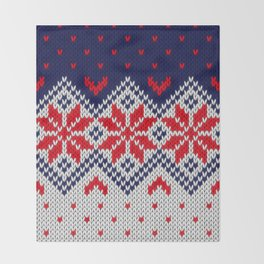 Winter knitted pattern 11 Throw Blanket