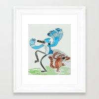 regular show Framed Art Prints featuring The Regular Show 'OOHHHH'  by Renatta Maniski-Luke